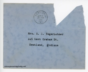 January 1, 1961 envelope