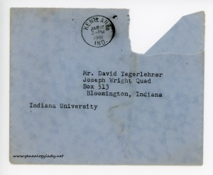 January 17, 1961 envelope