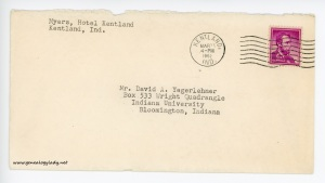 March 22, 1962 envelope