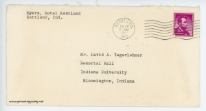 July 27, 1962 envelope