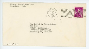 October 11, 1962 envelope