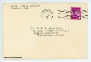 December 9, 1962 envelope