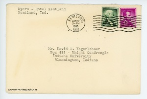 January 17, 1963 envelope