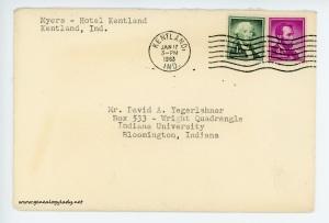 January 17, 1963 envelope