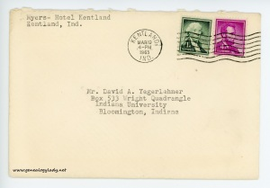 March 19, 1963 envelope