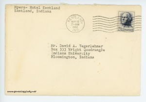 May 9, 1963 envelope