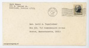 November 24, 1966 envelope