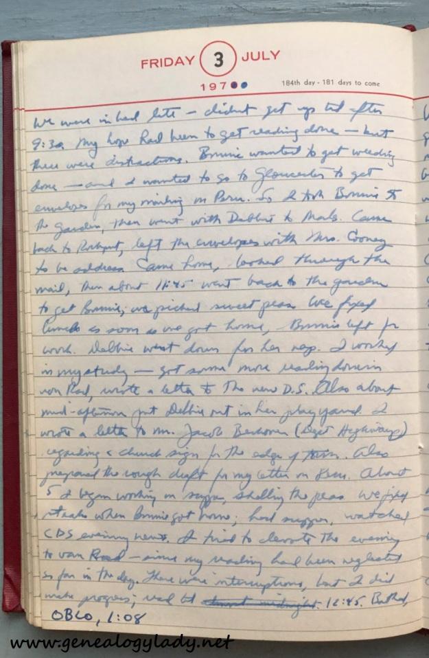 1970-07-03 diary