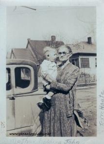 FOS1932 Emma (Lawhead) Foster with John - Terre Haute, 1932-02-28 #1