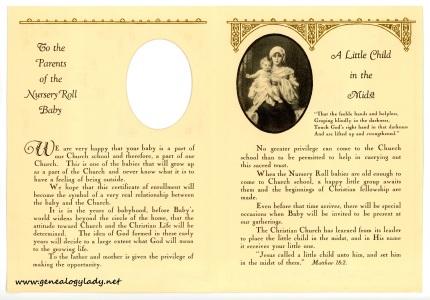 YEG1943 - David Yegerlehner Nursery Roll, p. 2-3